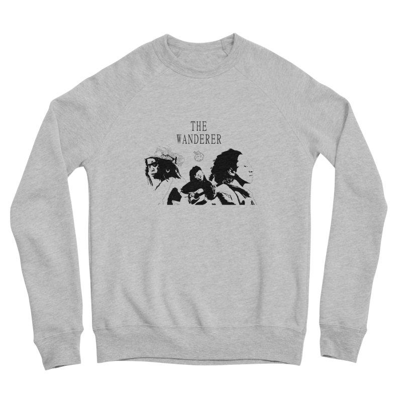 The Wanderer - Monochromatic Black Women's Sponge Fleece Sweatshirt by Strange Froots Merch