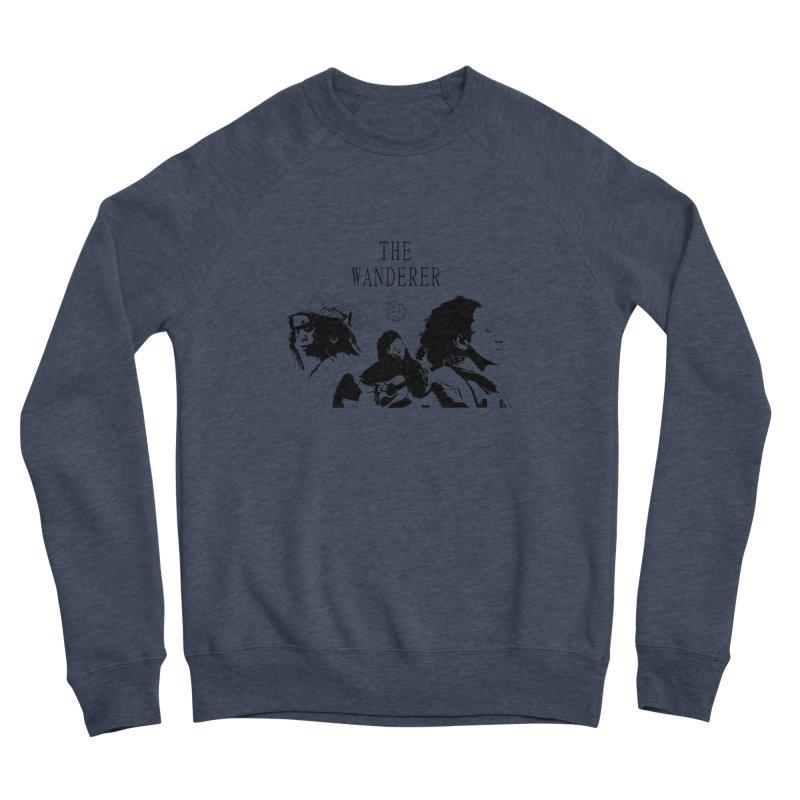 The Wanderer - Monochromatic Black Men's Sponge Fleece Sweatshirt by Strange Froots Merch
