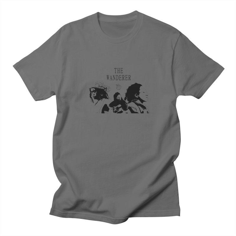 The Wanderer - Monochromatic Black Men's T-Shirt by Strange Froots Merch