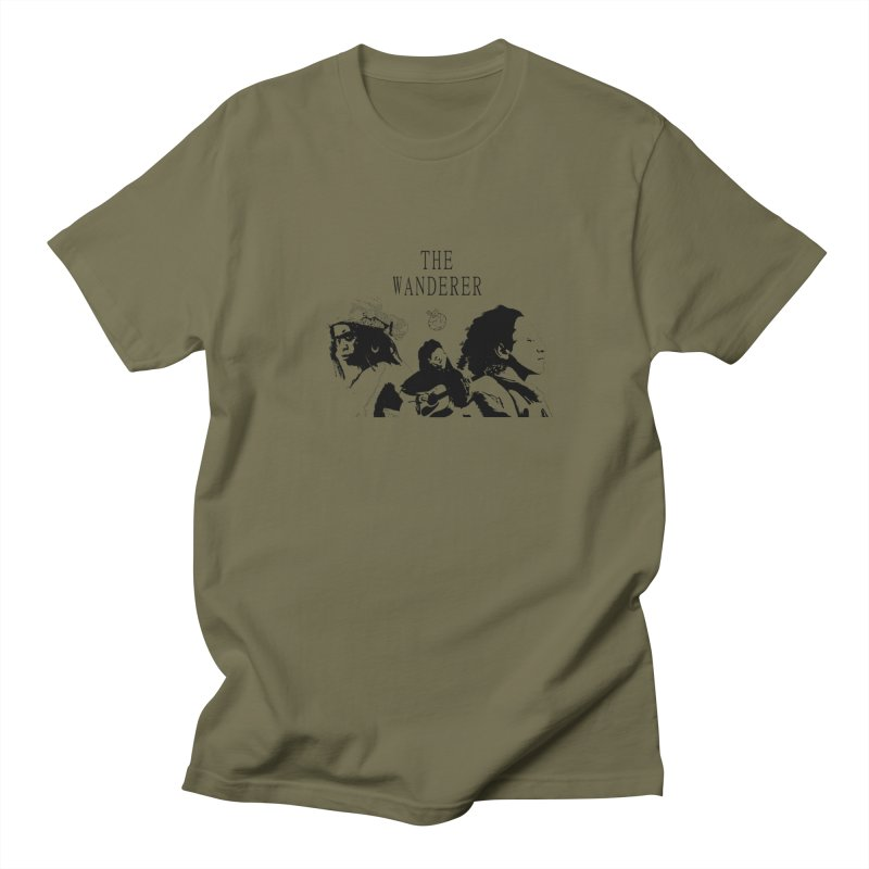The Wanderer - Monochromatic Black Women's Regular Unisex T-Shirt by Strange Froots Merch