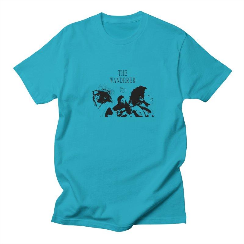 The Wanderer - Monochromatic Black Men's Regular T-Shirt by Strange Froots Merch