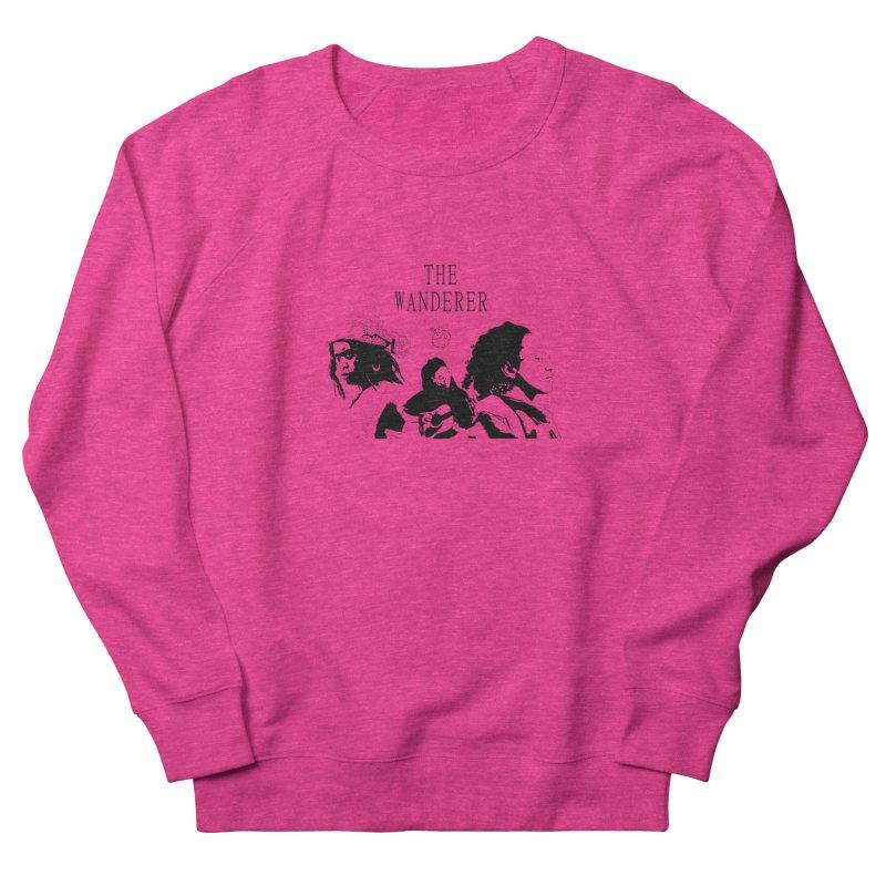 The Wanderer - Monochromatic Black Women's French Terry Sweatshirt by Strange Froots Merch
