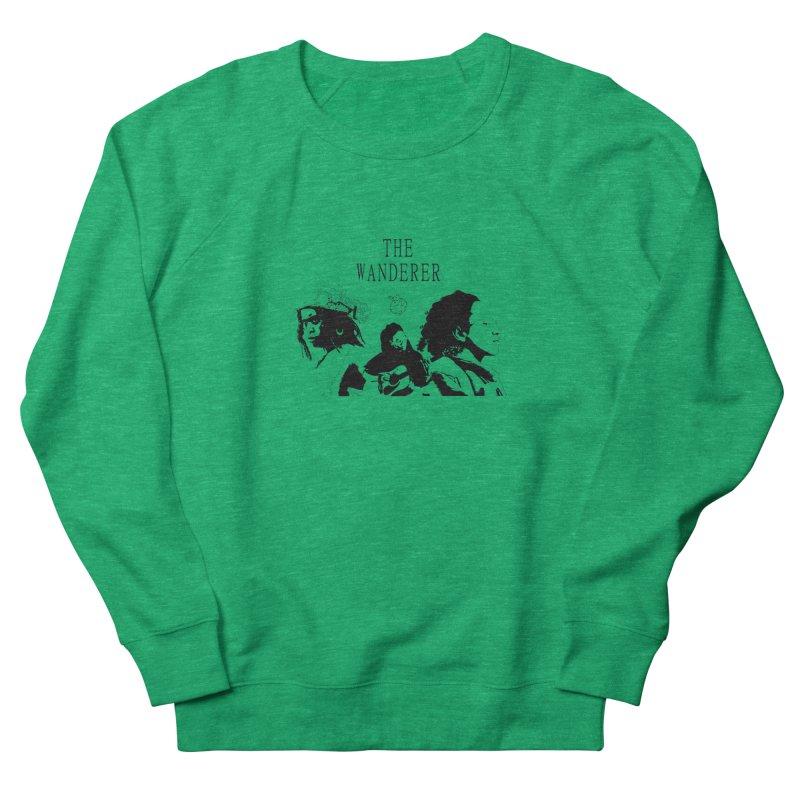 The Wanderer - Monochromatic Black Men's French Terry Sweatshirt by Strange Froots Merch