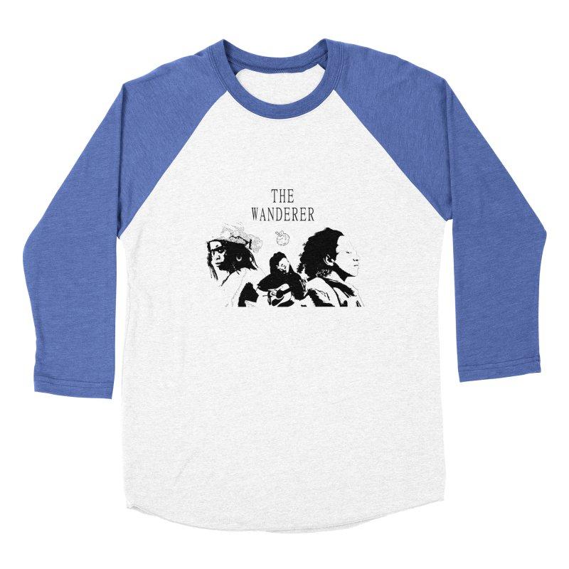 The Wanderer - Monochromatic Black Women's Baseball Triblend Longsleeve T-Shirt by Strange Froots Merch