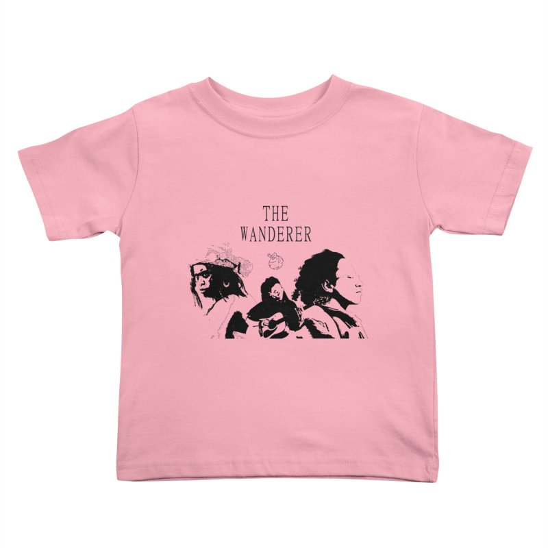 The Wanderer - Monochromatic Black Kids Toddler T-Shirt by Strange Froots Merch