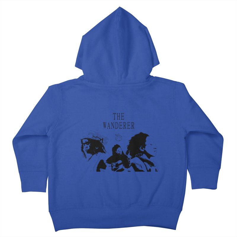 The Wanderer - Monochromatic Black Kids Toddler Zip-Up Hoody by Strange Froots Merch