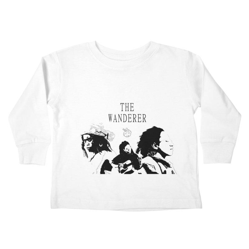 The Wanderer - Monochromatic Black Kids Toddler Longsleeve T-Shirt by Strange Froots Merch