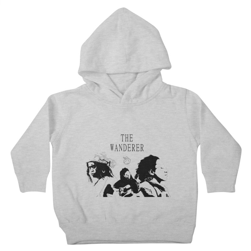 The Wanderer - Monochromatic Black Kids Toddler Pullover Hoody by Strange Froots Merch