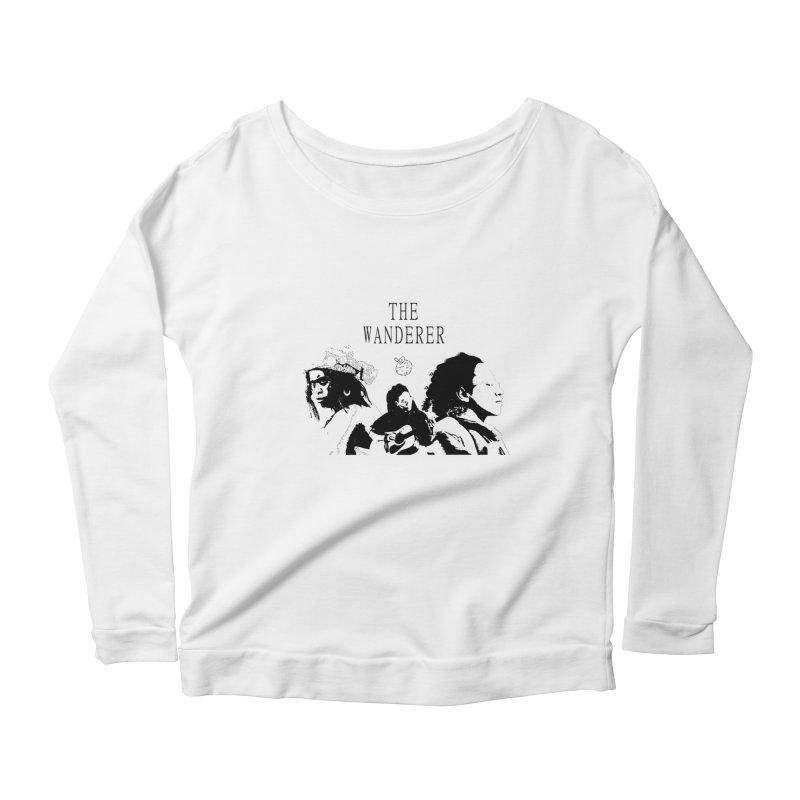 The Wanderer - Monochromatic Black Women's Scoop Neck Longsleeve T-Shirt by Strange Froots Merch