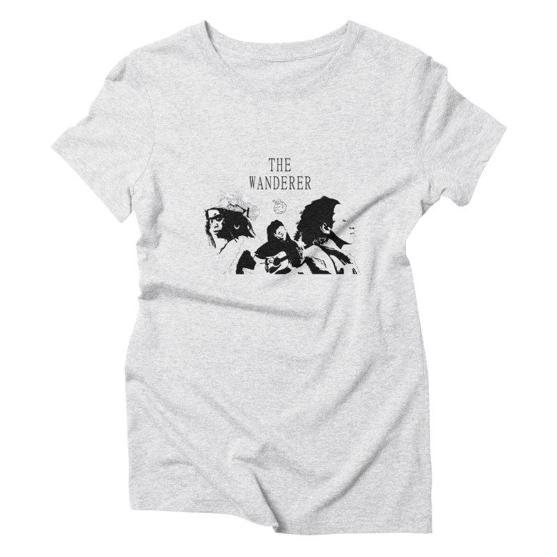 The Wanderer - Monochromatic Black Women's T-Shirt by Strange Froots Merch