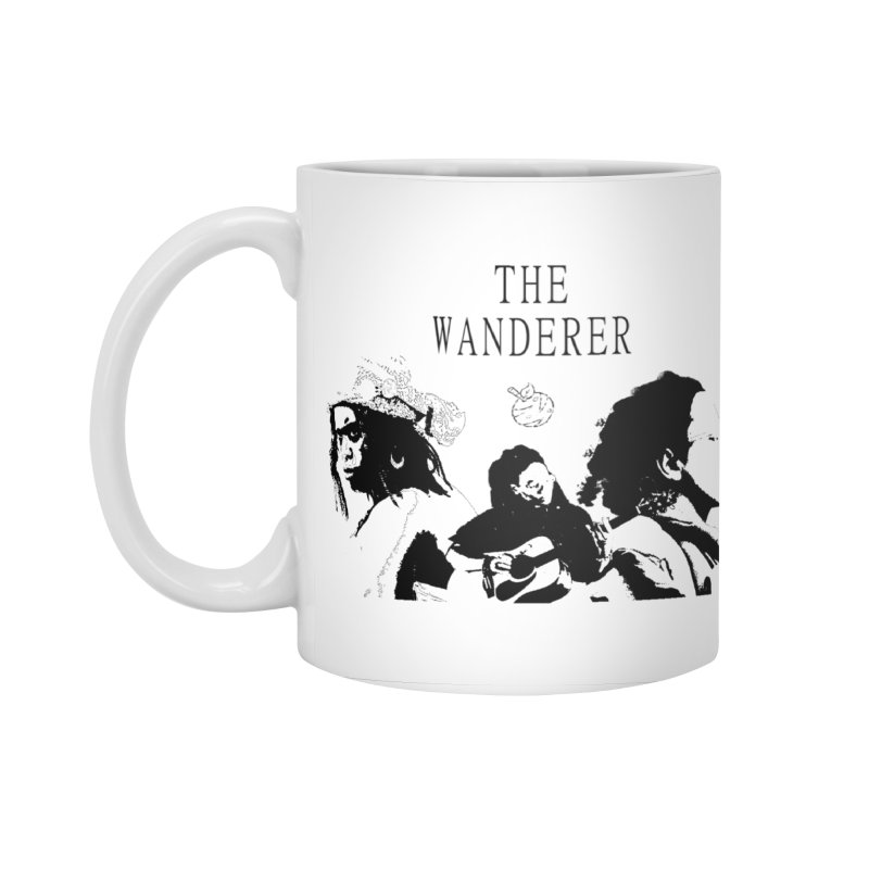 The Wanderer - Monochromatic Black Accessories Standard Mug by Strange Froots Merch
