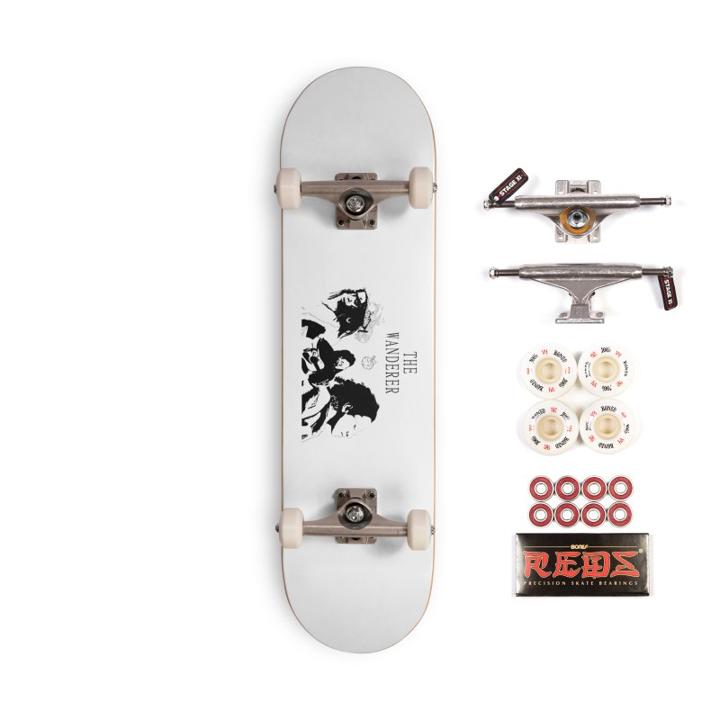 The Wanderer - Monochromatic Black Accessories Complete - Pro Skateboard by Strange Froots Merch