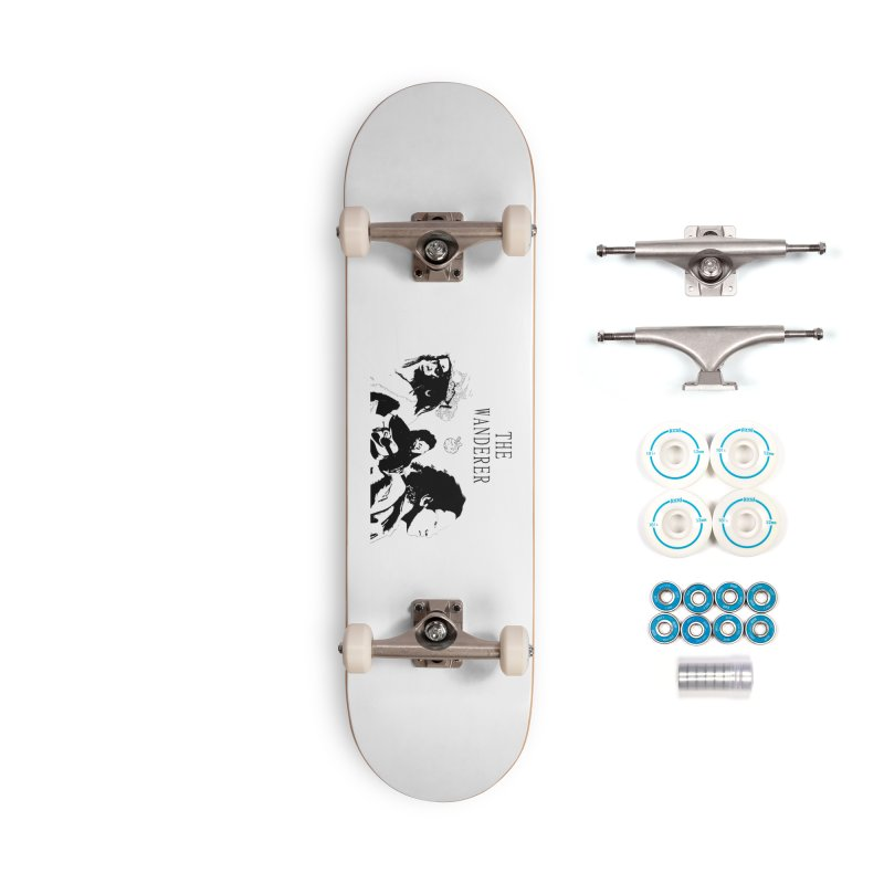 The Wanderer - Monochromatic Black Accessories Complete - Basic Skateboard by Strange Froots Merch