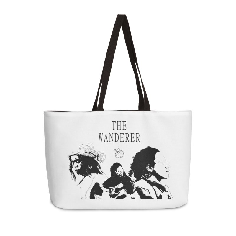 The Wanderer - Monochromatic Black Accessories Weekender Bag Bag by Strange Froots Merch