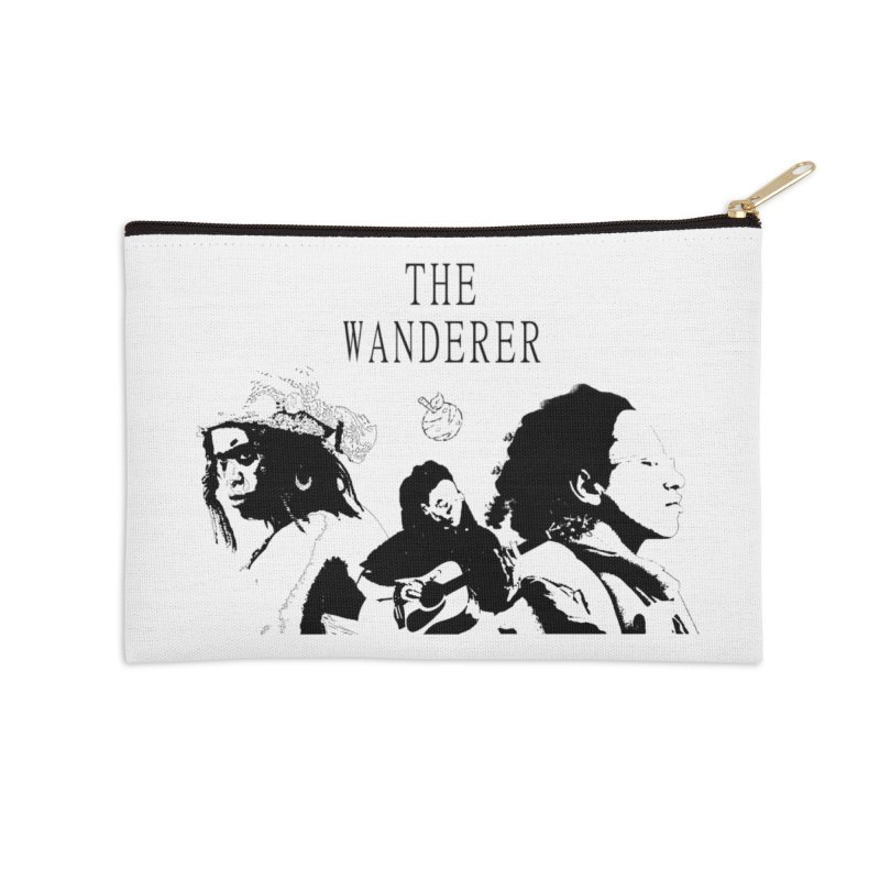 The Wanderer - Monochromatic Black Accessories Zip Pouch by Strange Froots Merch