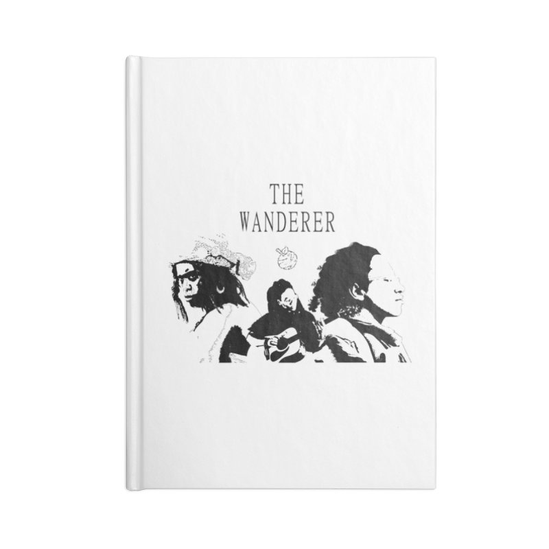 The Wanderer - Monochromatic Black Accessories Lined Journal Notebook by Strange Froots Merch