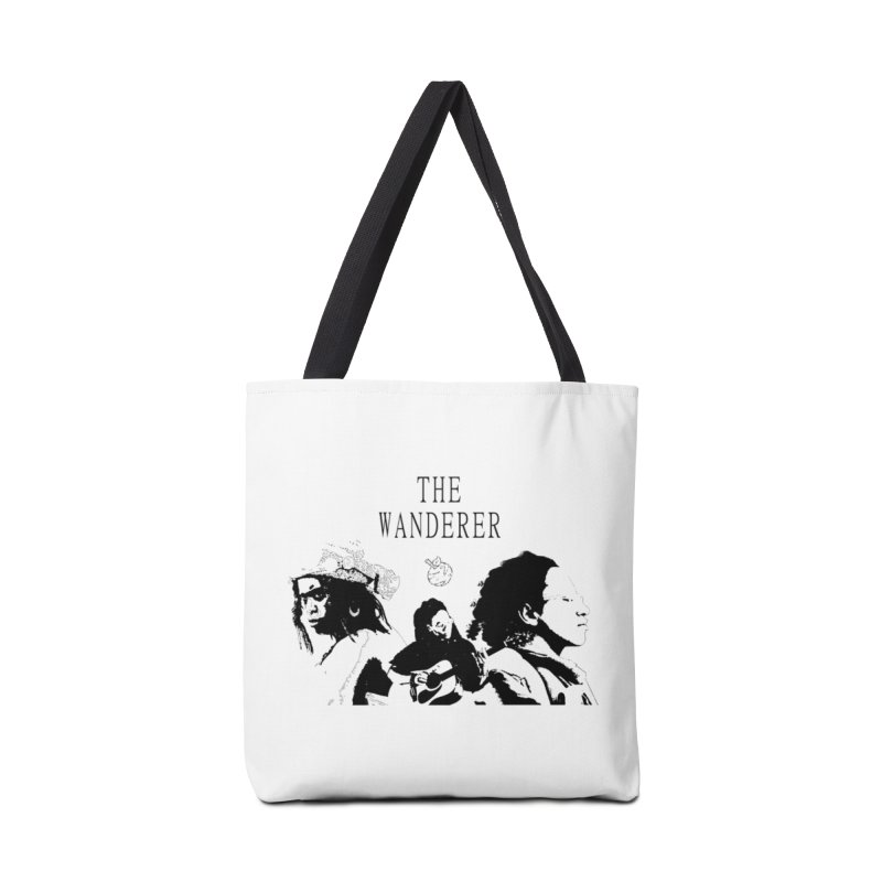 The Wanderer - Monochromatic Black Accessories Tote Bag Bag by Strange Froots Merch