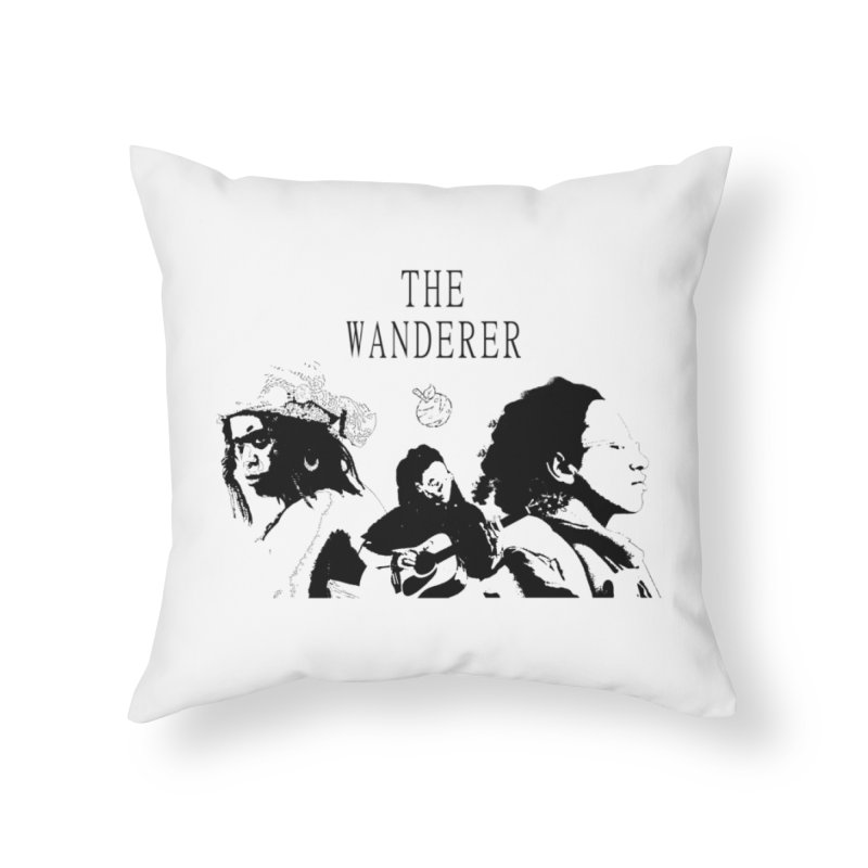 The Wanderer - Monochromatic Black Home Throw Pillow by Strange Froots Merch