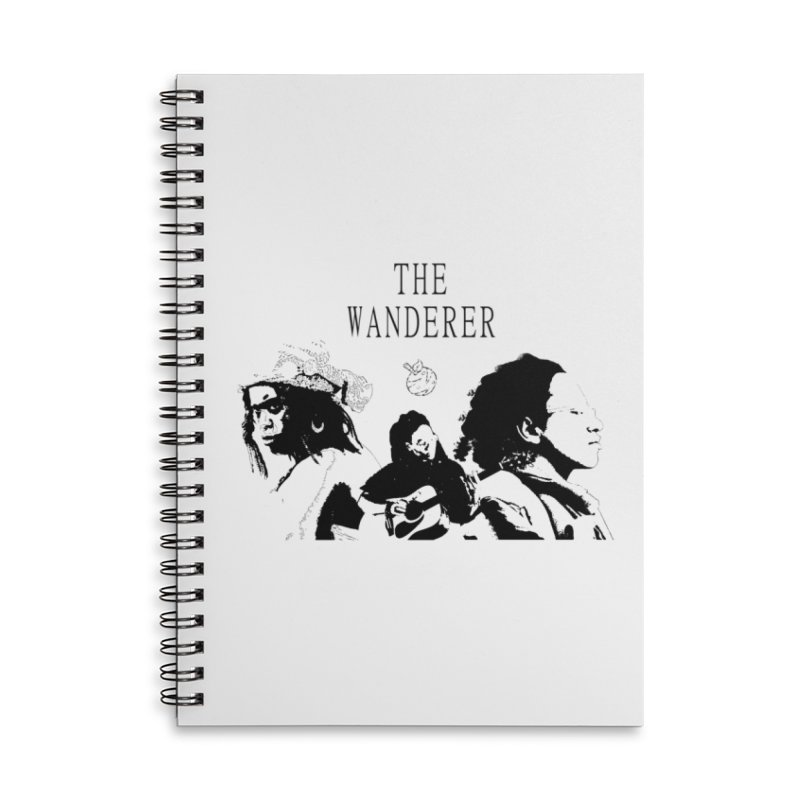 The Wanderer - Monochromatic Black Accessories Lined Spiral Notebook by Strange Froots Merch