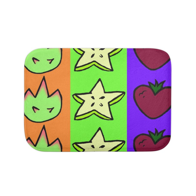 Individual Froot Logos Full Color Home Bath Mat by Strange Froots Merch