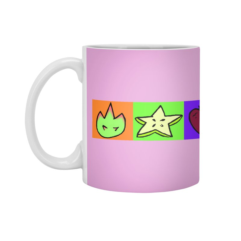 Individual Froot Logos Full Color Accessories Mug by Strange Froots Merch