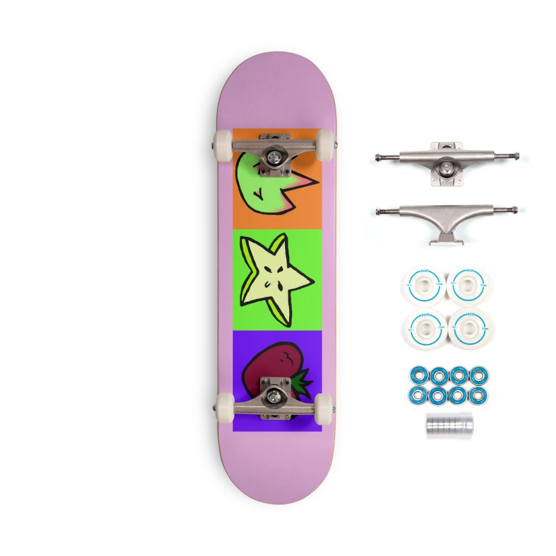 Individual Froot Logos Full Color Accessories Complete - Basic Skateboard by Strange Froots Merch