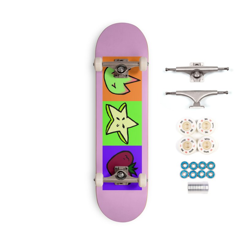 Individual Froot Logos Full Color Accessories Complete - Premium Skateboard by Strange Froots Merch