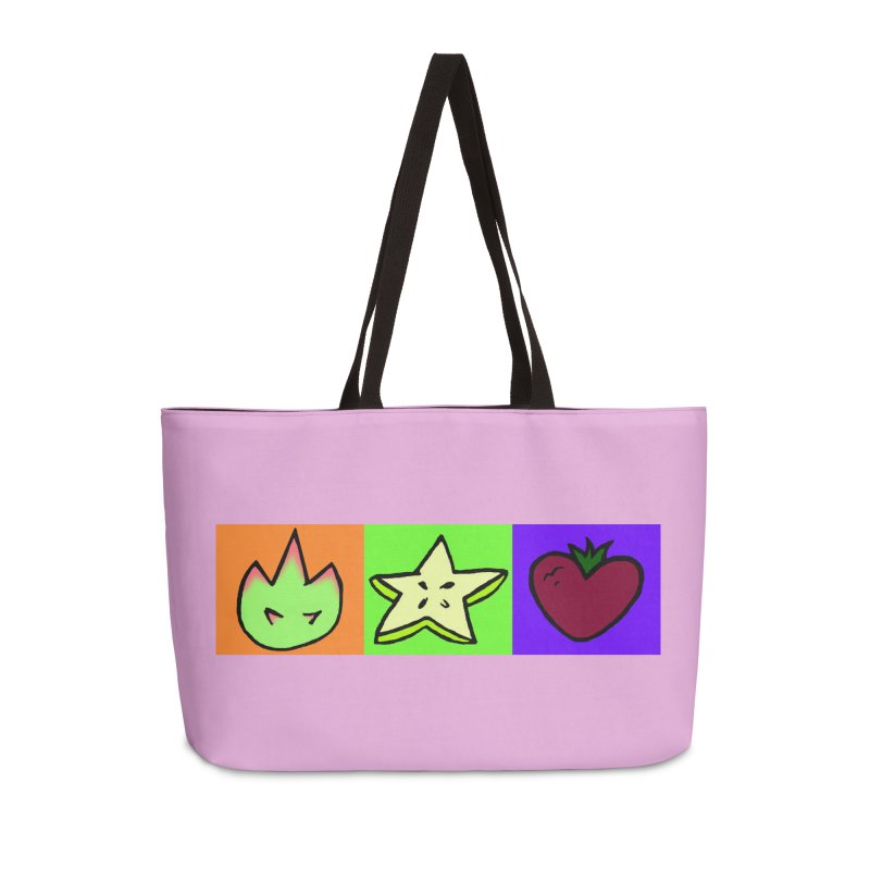 Individual Froot Logos Full Color Accessories Weekender Bag Bag by Strange Froots Merch