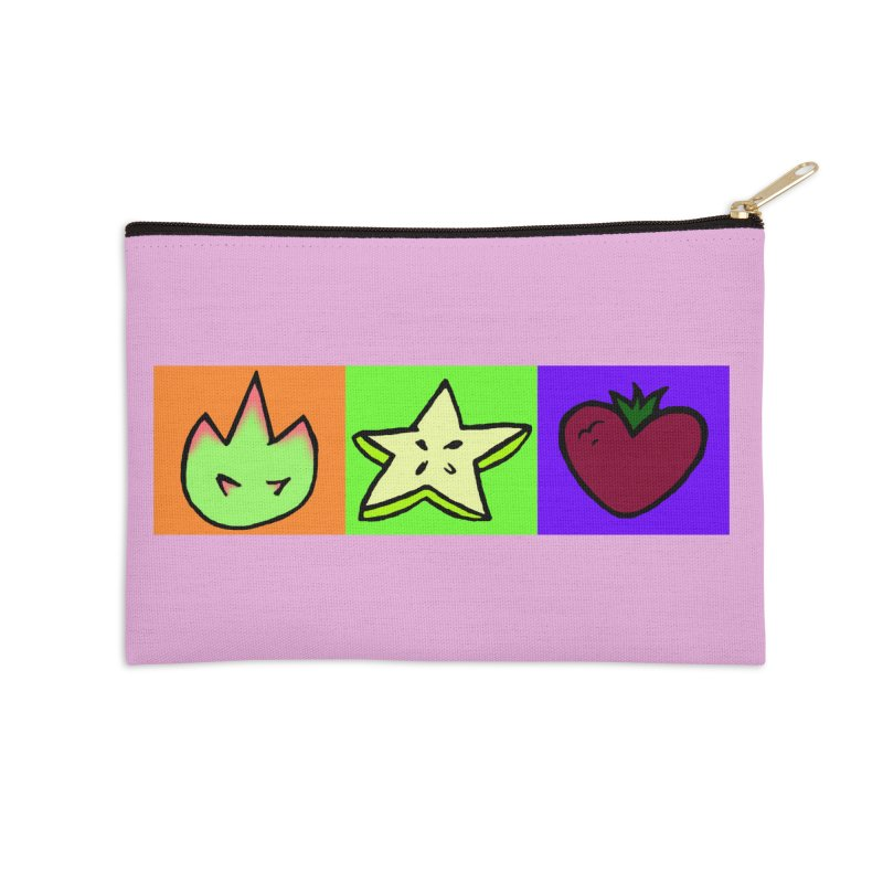 Individual Froot Logos Full Color Accessories Zip Pouch by Strange Froots Merch