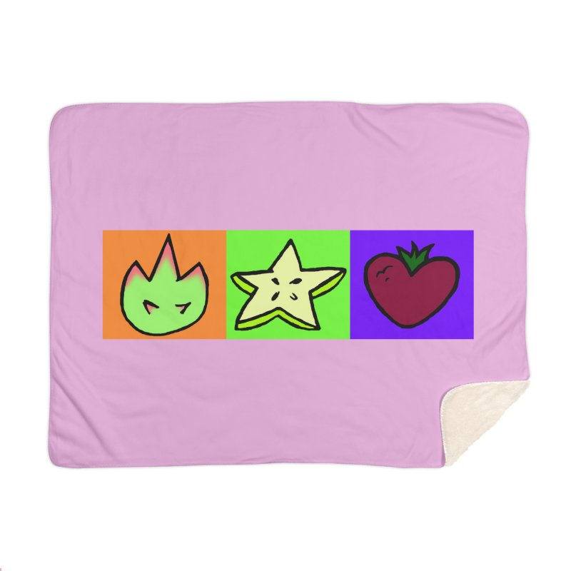 Individual Froot Logos Full Color Home Blanket by Strange Froots Merch