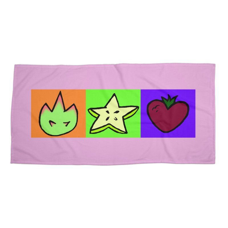Individual Froot Logos Full Color Accessories Beach Towel by Strange Froots Merch