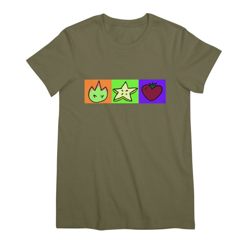 Individual Froot Logos Full Color Women's Premium T-Shirt by Strange Froots Merch