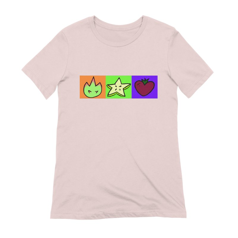 Individual Froot Logos Full Color Women's Extra Soft T-Shirt by Strange Froots Merch