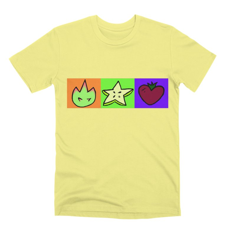 Individual Froot Logos Full Color Men's Premium T-Shirt by Strange Froots Merch