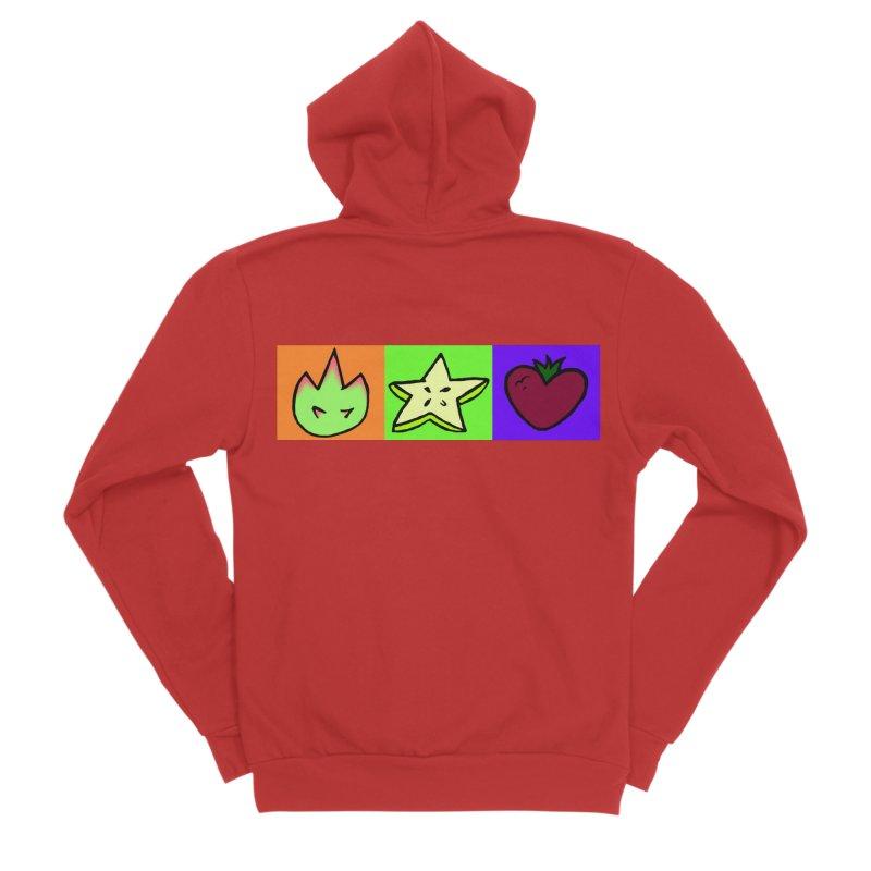 Individual Froot Logos Full Color Women's Sponge Fleece Zip-Up Hoody by Strange Froots Merch