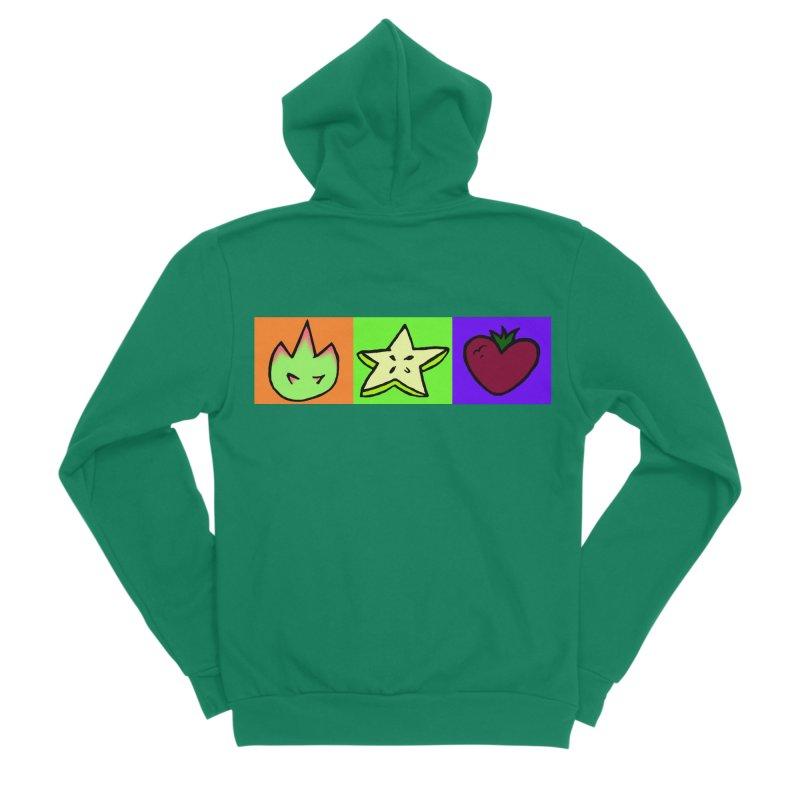 Individual Froot Logos Full Color Men's Sponge Fleece Zip-Up Hoody by Strange Froots Merch