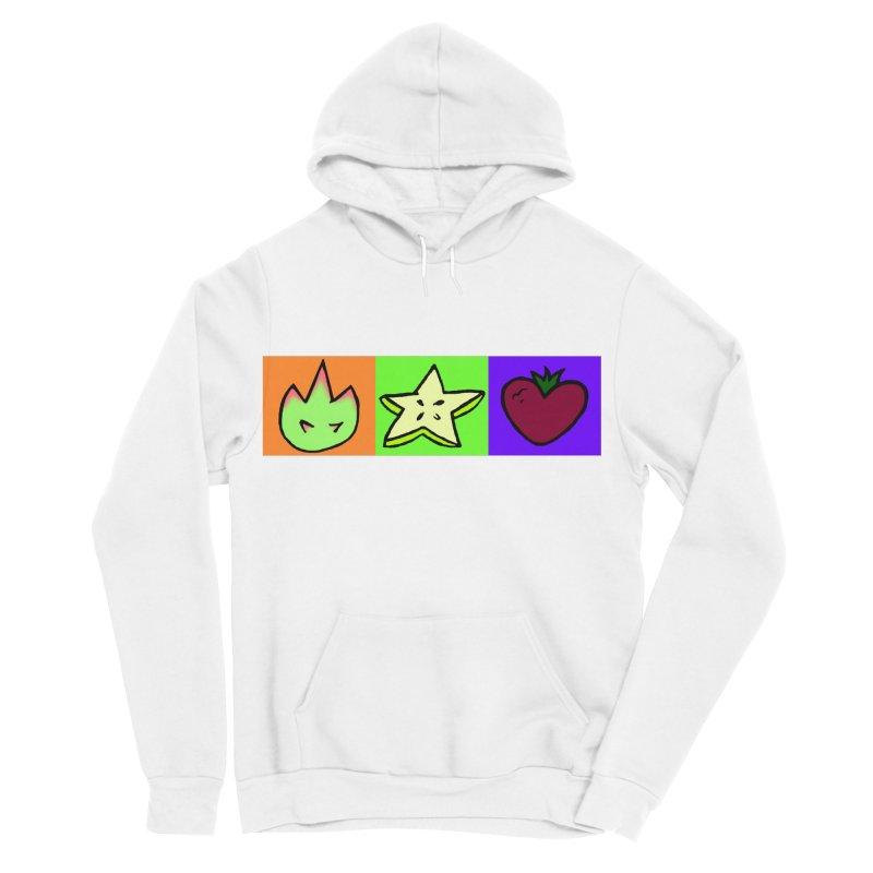 Individual Froot Logos Full Color Women's Sponge Fleece Pullover Hoody by Strange Froots Merch