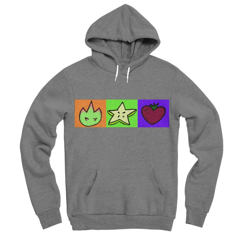 Individual Froot Logos Full Color Men's Sponge Fleece Pullover Hoody by Strange Froots Merch