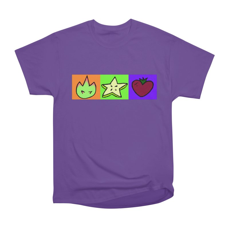 Individual Froot Logos Full Color Men's Heavyweight T-Shirt by Strange Froots Merch