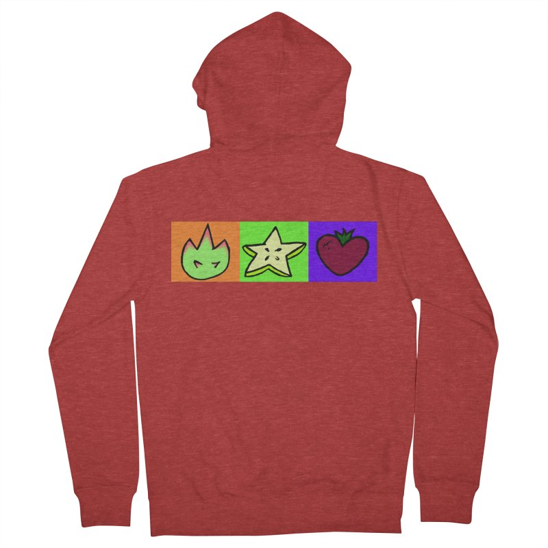 Individual Froot Logos Full Color Women's French Terry Zip-Up Hoody by Strange Froots Merch