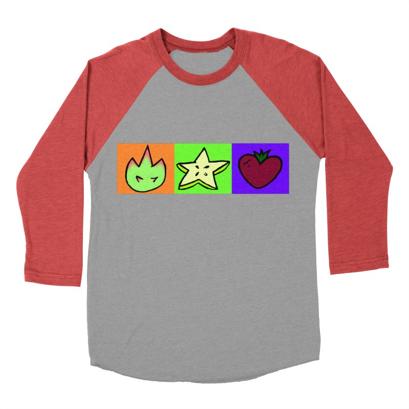 Individual Froot Logos Full Color Men's Baseball Triblend Longsleeve T-Shirt by Strange Froots Merch