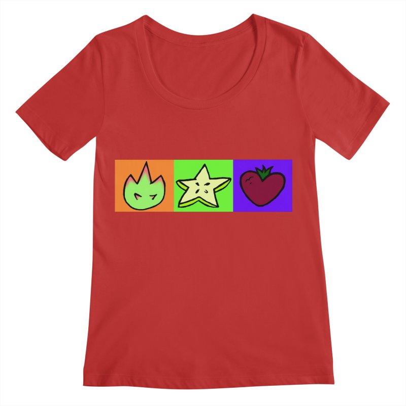 Individual Froot Logos Full Color Women's Regular Scoop Neck by Strange Froots Merch