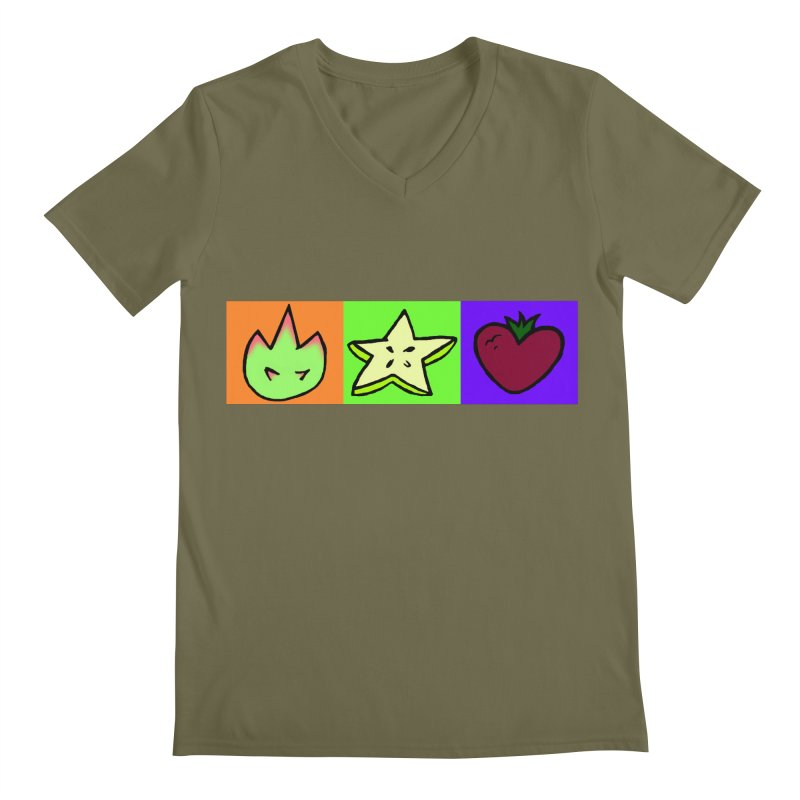 Individual Froot Logos Full Color Men's Regular V-Neck by Strange Froots Merch