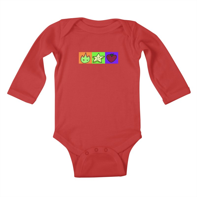 Individual Froot Logos Full Color Kids Baby Longsleeve Bodysuit by Strange Froots Merch