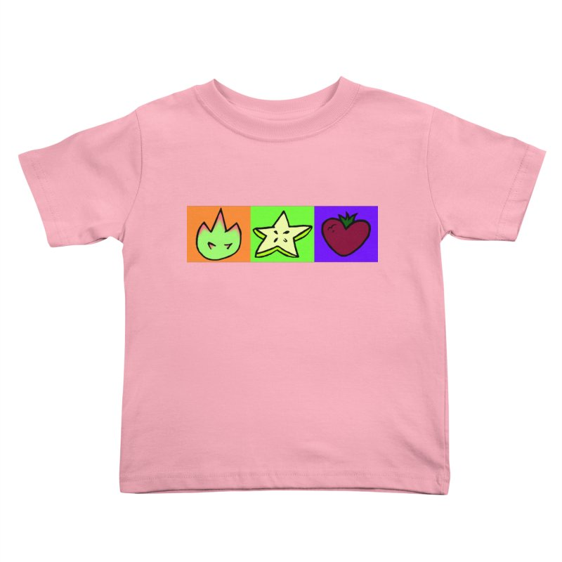 Individual Froot Logos Full Color Kids Toddler T-Shirt by Strange Froots Merch
