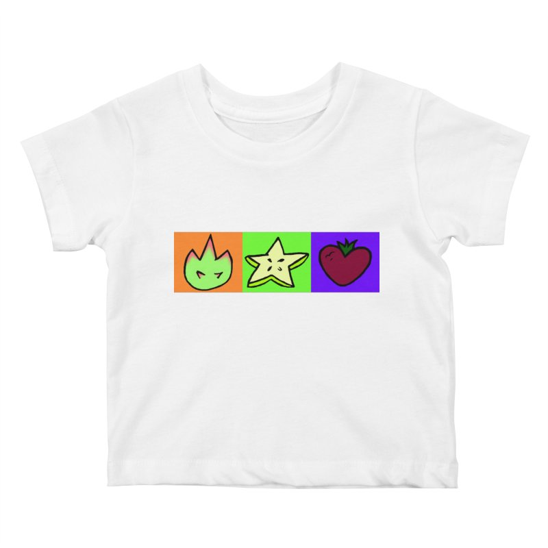Individual Froot Logos Full Color Kids Baby T-Shirt by Strange Froots Merch