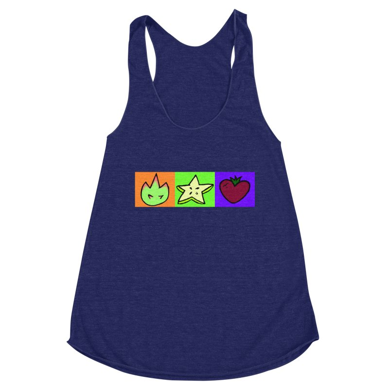 Individual Froot Logos Full Color Women's Racerback Triblend Tank by Strange Froots Merch