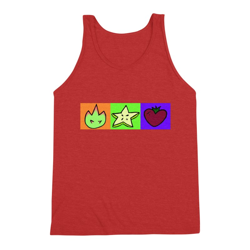 Individual Froot Logos Full Color Men's Triblend Tank by Strange Froots Merch