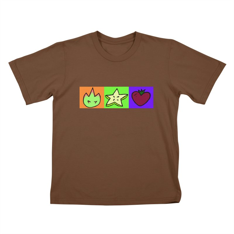 Individual Froot Logos Full Color Kids T-Shirt by Strange Froots Merch