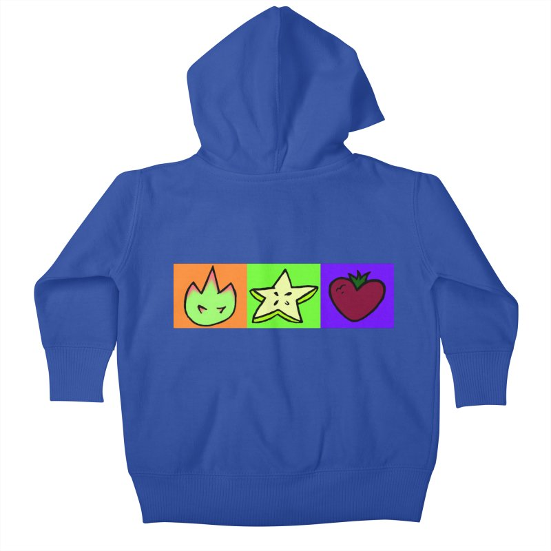 Individual Froot Logos Full Color Kids Baby Zip-Up Hoody by Strange Froots Merch